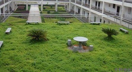 草坪式屋顶花园工程